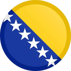 Bosnia and Herzegovina flag clipart.
