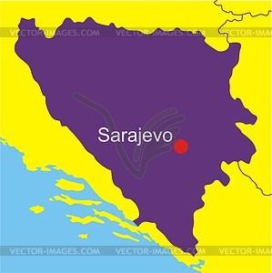 and Herzegovina map.