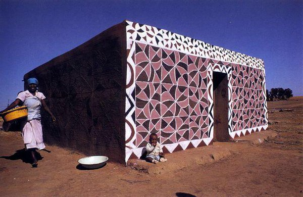 "S U N U on Twitter: ""Homes painted by Basotho women. From Gary Van."