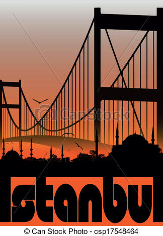 Bosphorus bridge Vector Clipart Illustrations. 48 Bosphorus bridge.