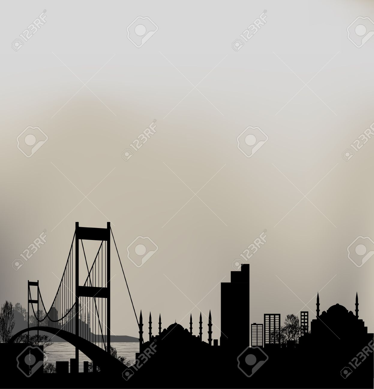 Istanbul And Bosphorus Bridge Royalty Free Cliparts, Vectors, And.