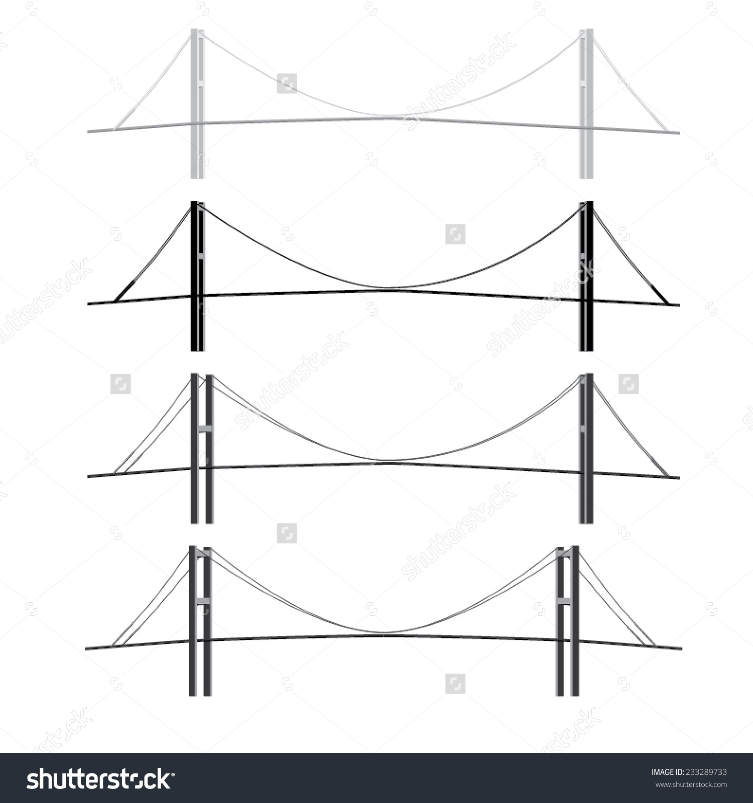 Vector Bosphorus Bridge Istanbul Turkey Stock Vector 233289733.