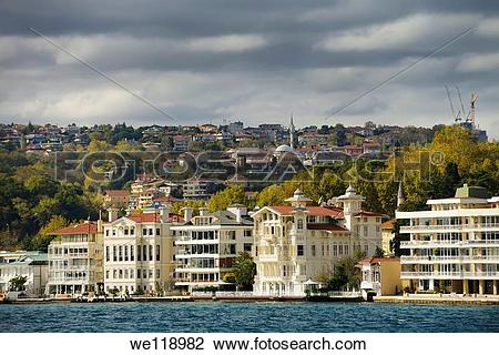 Stock Photo of Mansion apartments in Istiney Turkey on the.
