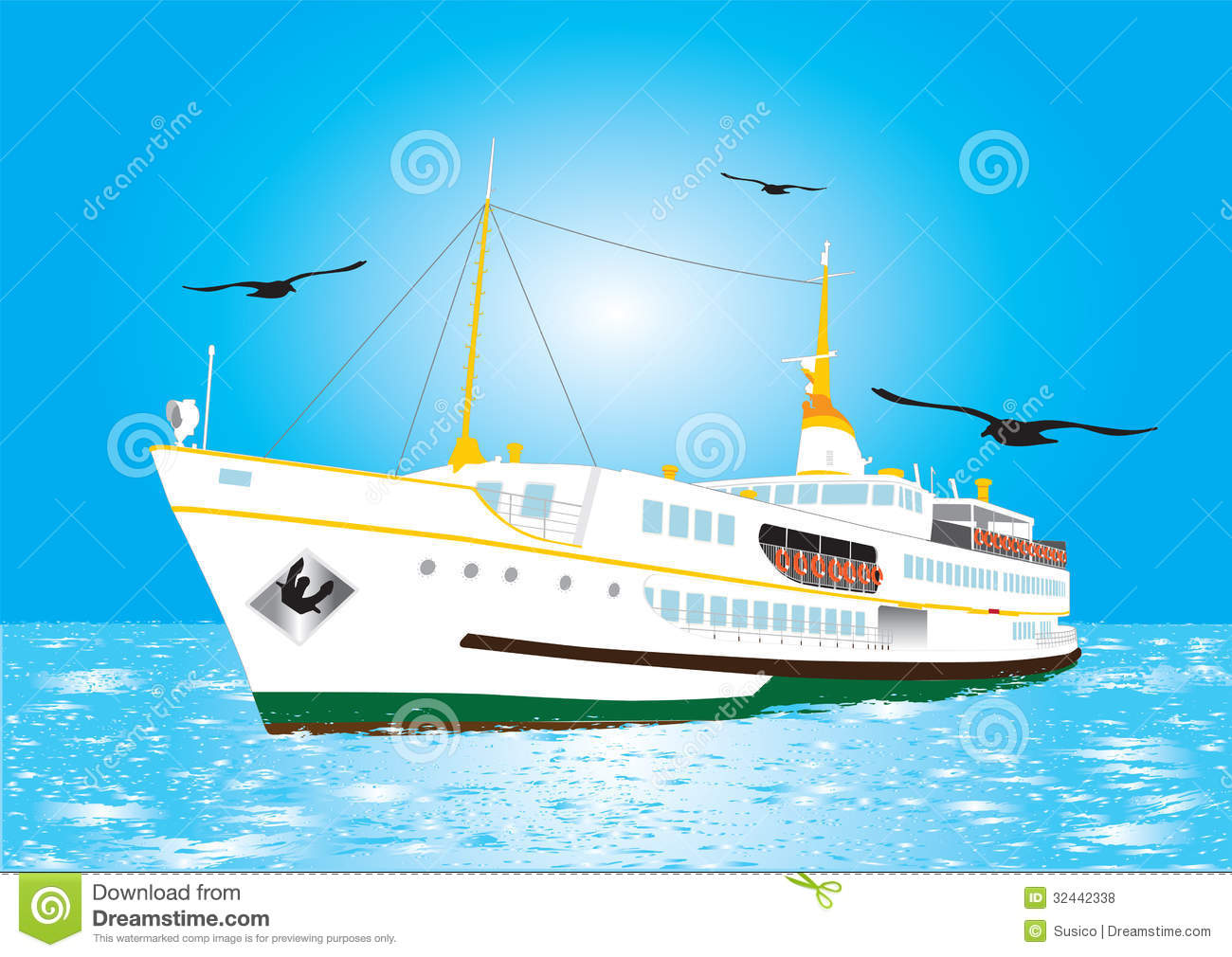Istanbul Ferry Vector Illustration In The Istanbul Royalty Free.