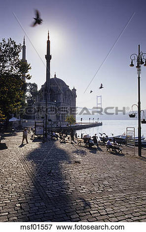 Picture of Istanbul, Ortakšy Camii at the Bosporus and Sultan.