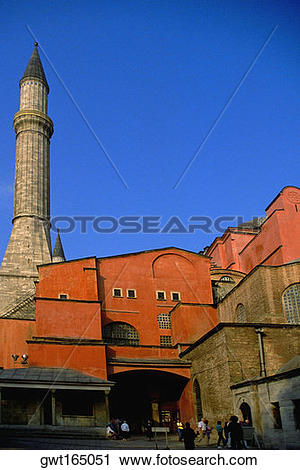 Stock Photography of Low angle view of a museum, Aya Sofya.