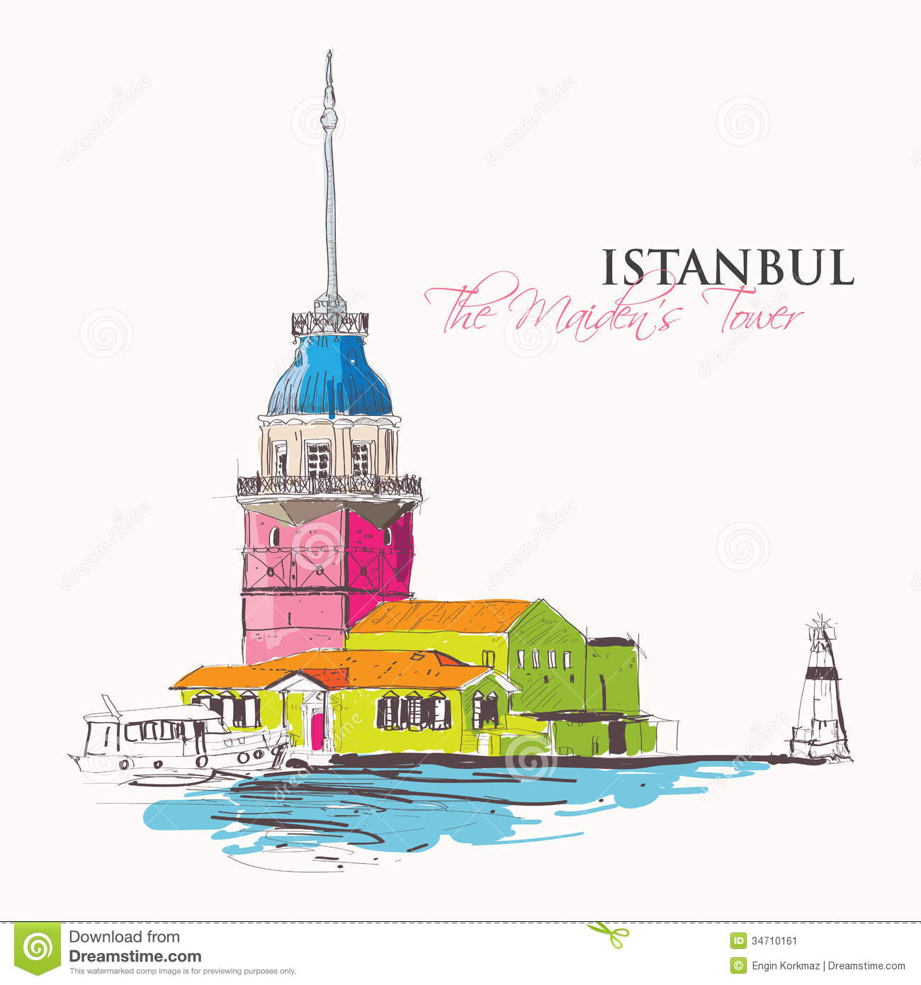 Maiden's Tower Stock Image.