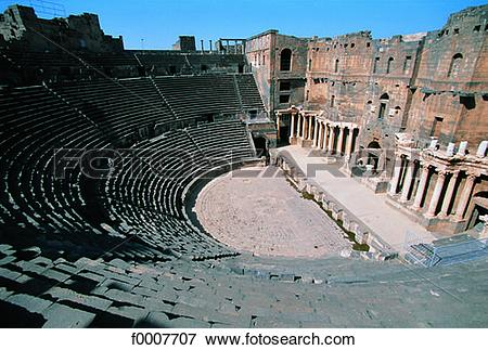 Picture of Syria, Bosra, Roman theater f0007707.