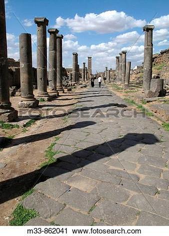 Stock Photography of Roman ruins, Bosra, Syria m33.