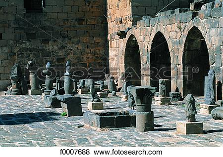 Pictures of Syria, Bosra, Roman ruins f0007688.