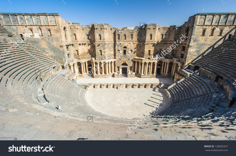 Roman Theatre Bosra Ancient Roman Theatre Stock Photo 128932427.