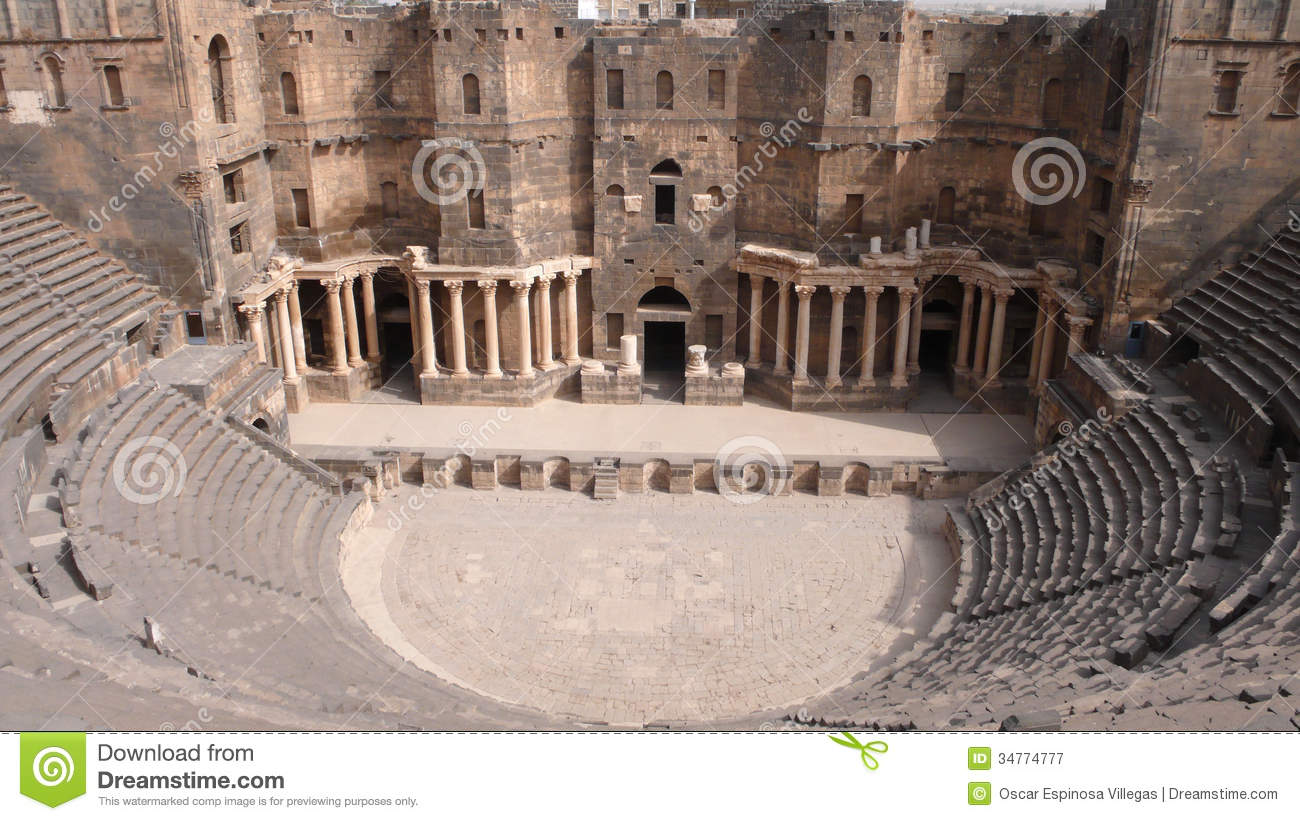 Theater Of Bosra, Syria Royalty Free Stock Photography.