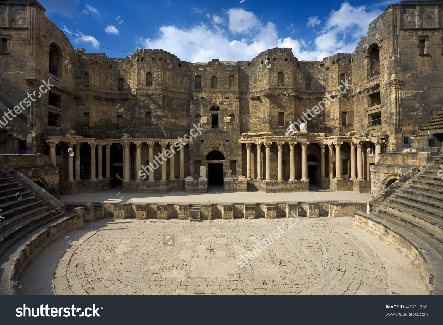 Syria. Bosra. The Monumental Frontage Of 2nd.
