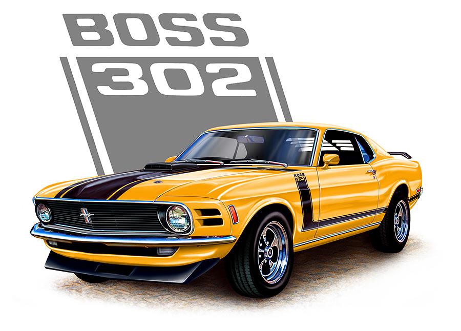 Boss 302 clipart.
