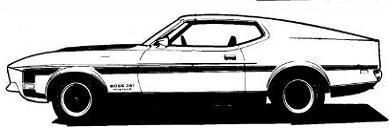 Free '70 Boss 302 Mustang Clipart.