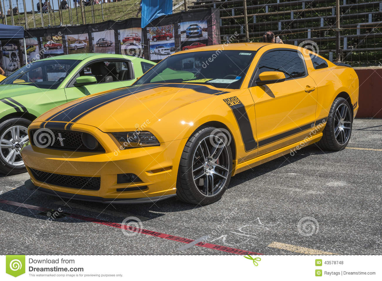 Ford Mustang Boss 302 Editorial Stock Photo.