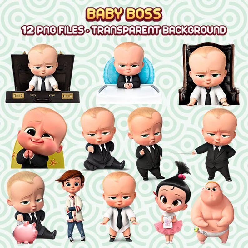 The Boss Baby Clipart, Boss baby Files, Boss Baby Movie, Baby Clipart, Boss  Baby Party, Instant Download 35.