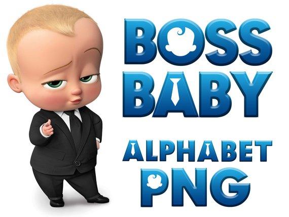 Boss Baby Digital Alphabet Clipart Its a boy scrapbooking birthday.