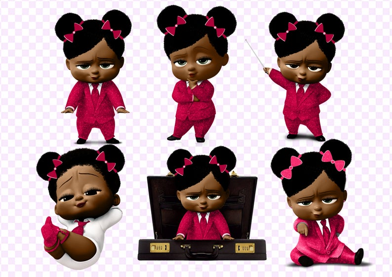 65 Girl Boss Baby Clipart, Girl Baby Boss Clipart PNG files, Dark Skin Girl  Baby Boss Images.