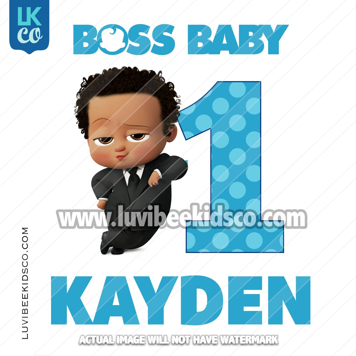 Boss Baby Iron On Transfer.