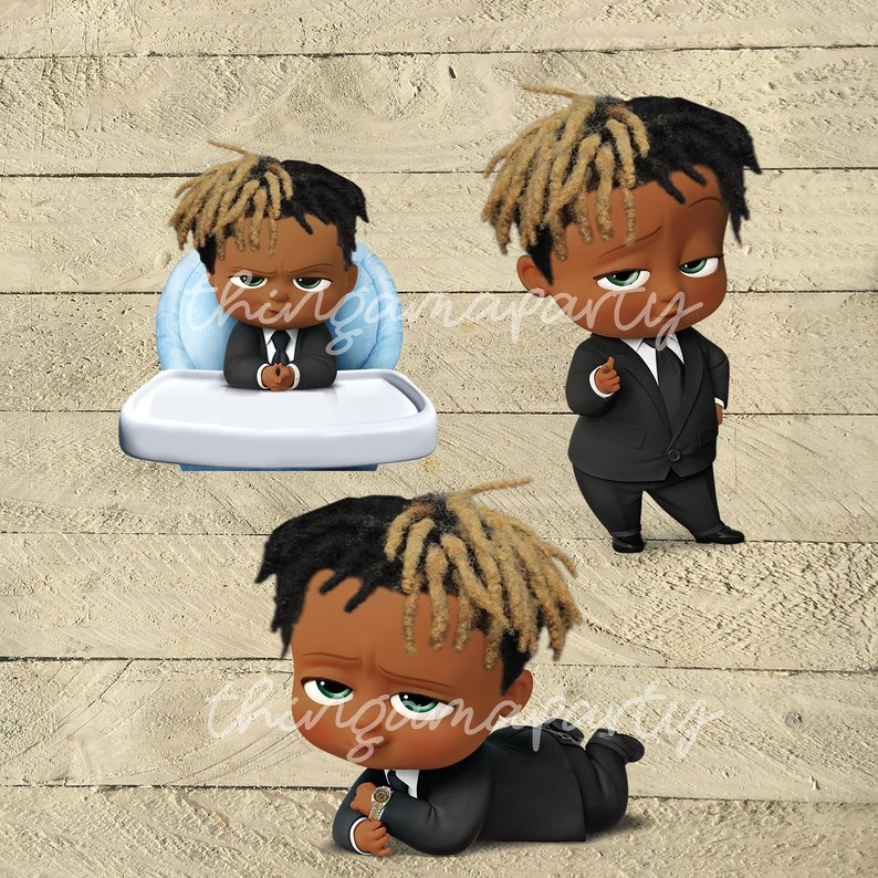 African American Boss Baby Boy With Dreads #476154.