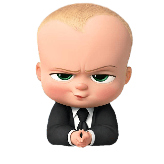 Boss Baby Angry Look transparent PNG.