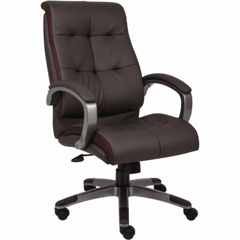 Boss LeatherPlus High Back Executive Chair [B8771].