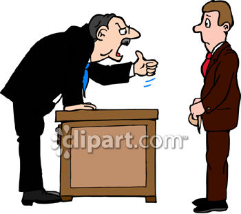 Man Being Fired by the Boss Clip Art.