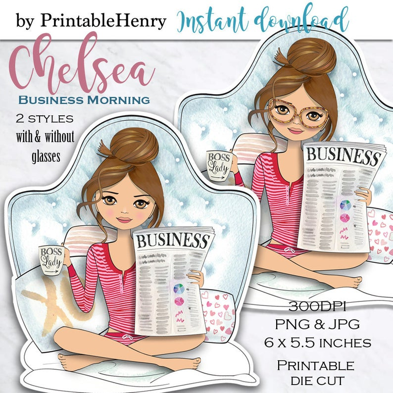 Boss lady clipart Girl boss doll clipart glam clipart fashion graphics  planner graphics printable dashboard clipart dashboard PrintableHenry.