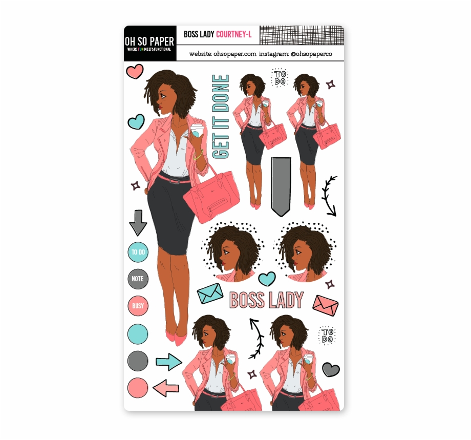 Boss Lady Loc Hair Sticker Set.