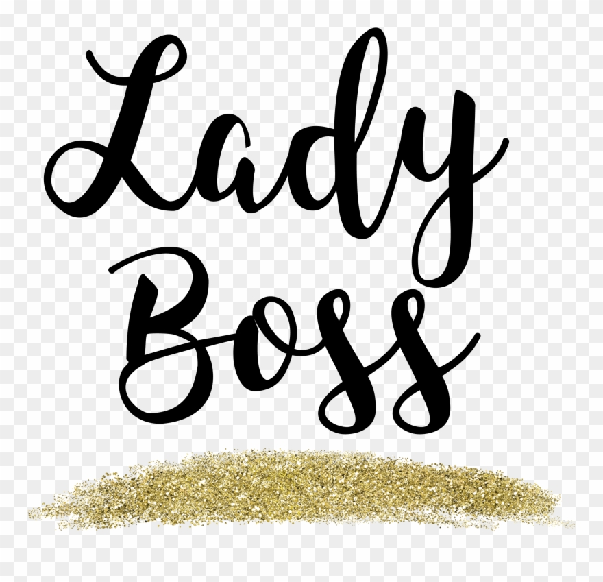 Lady Boss Gold Glitter Web Flair Graphic.