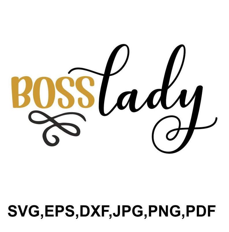Boss lady SVG file.