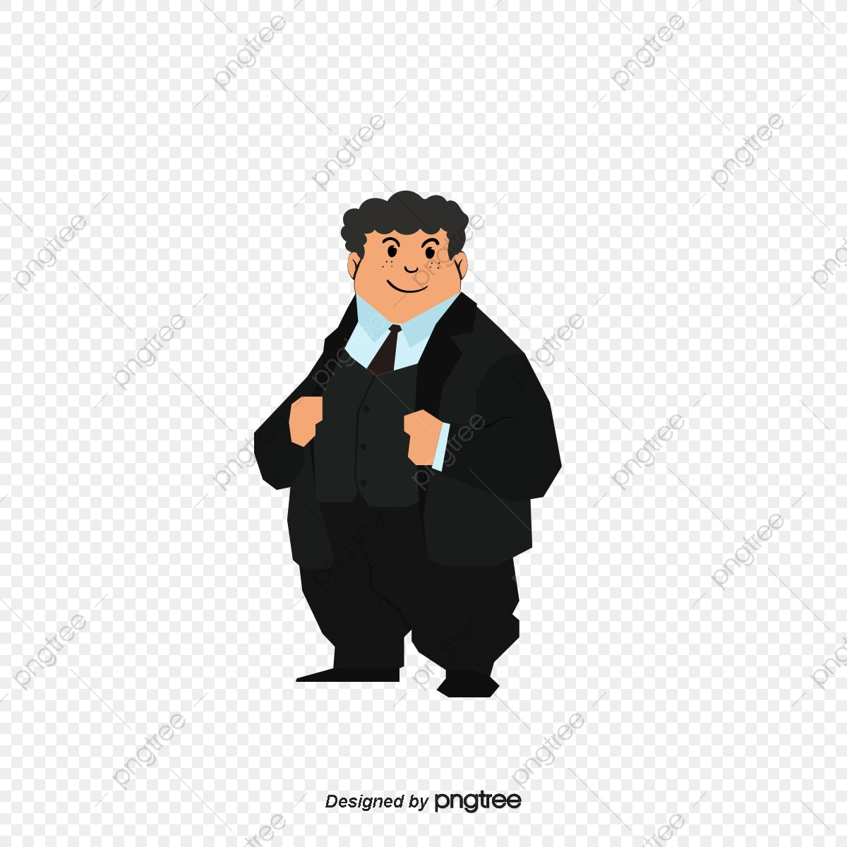 Cartoon Boss, Cartoon Vector, Boss, Fat Man PNG and Vector with.