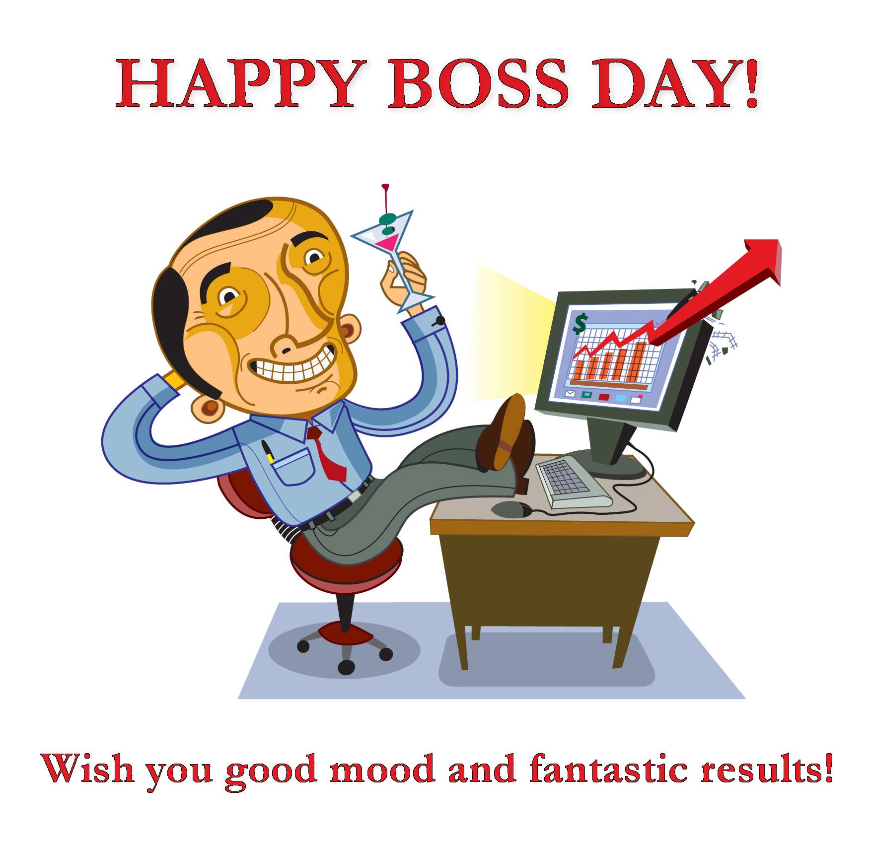Bouquet S National Boss Day Clipart.