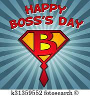 Boss Day Stock Illustrations.