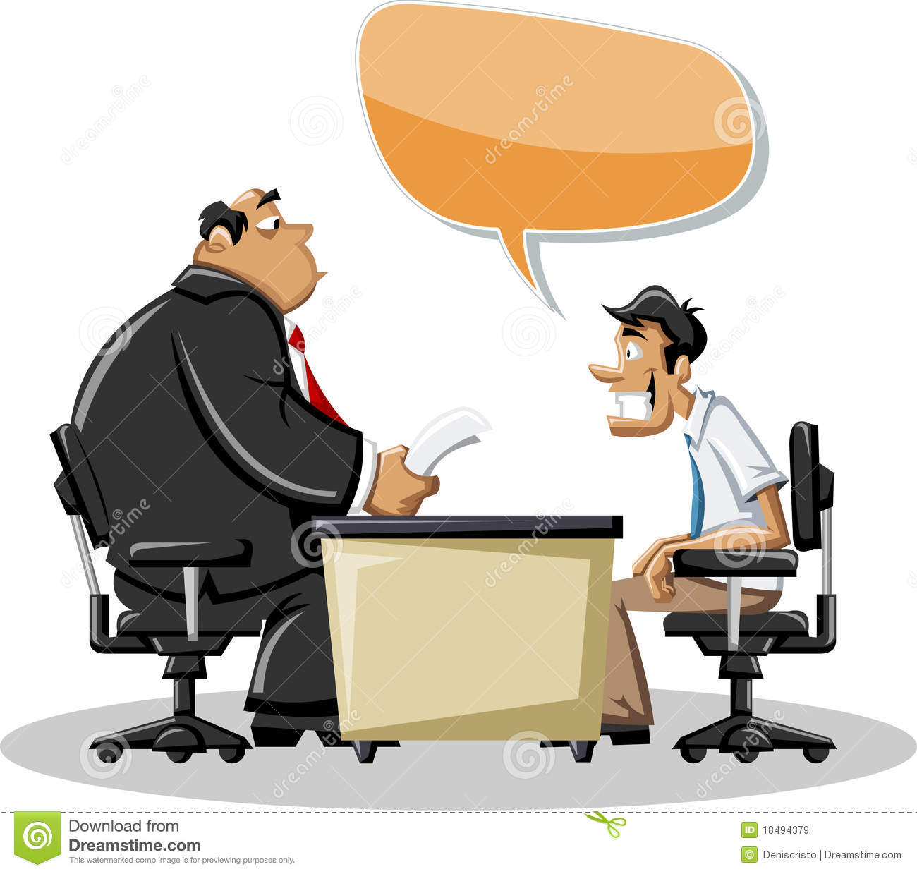 Man talking with his boss stock vector. Illustration of.