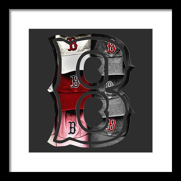 Boston Red Sox B Logo Framed Print.