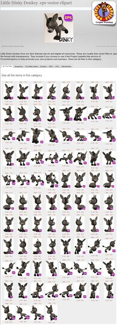 Quite Real Donkey .eps vector clipart.