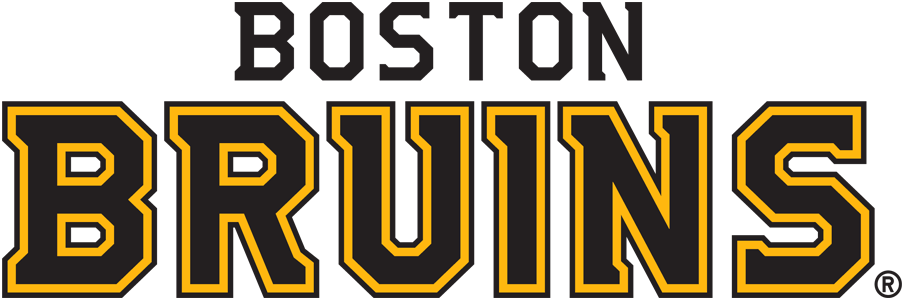Boston Bruins Wordmark Logo.