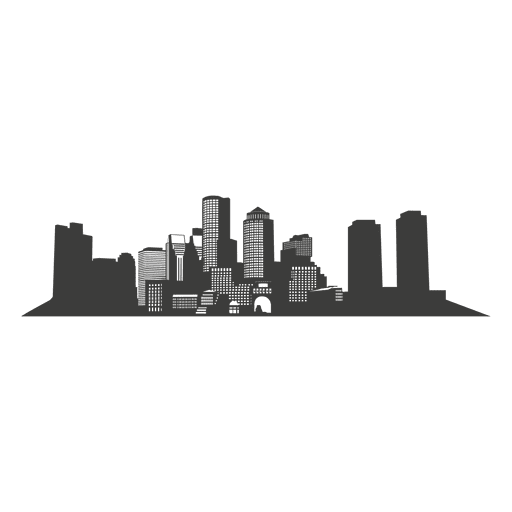 Boston Silhouette Skyline Clip art.