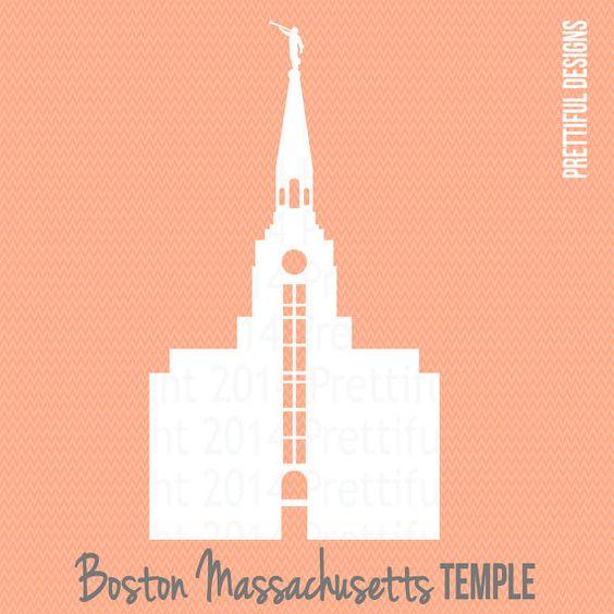 Boston Massachusetts Temple LDS Mormon Clip Art png eps svg Vector.