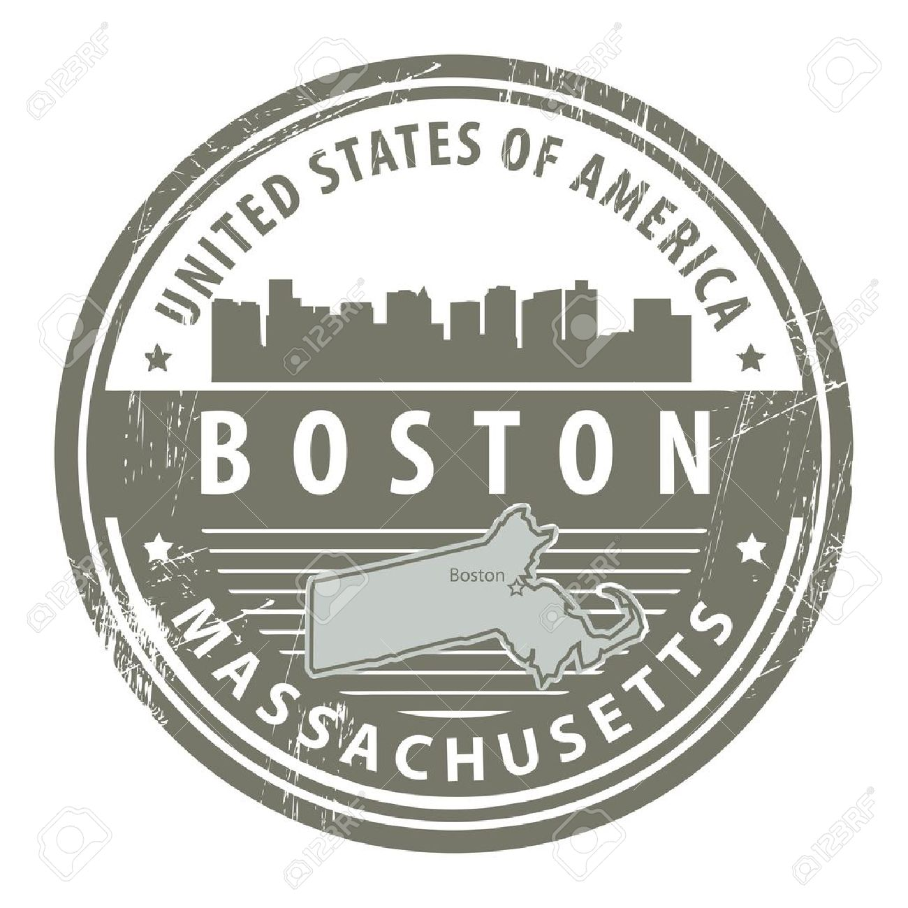 236 Boston Map Stock Vector Illustration And Royalty Free Boston.