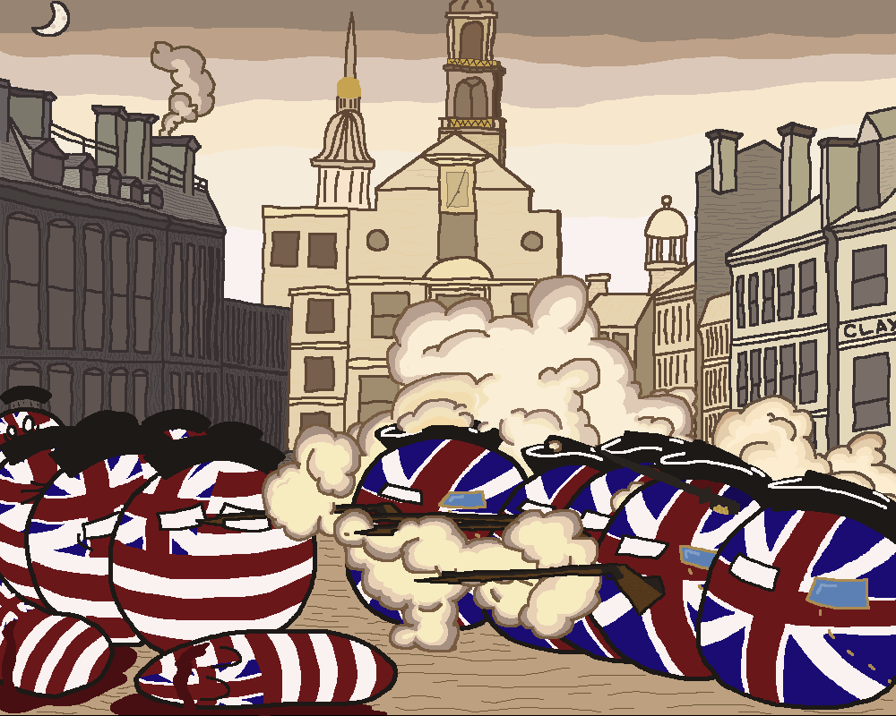 The Boston Massacre : Polandballart.