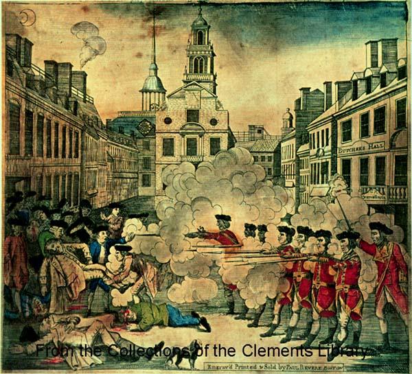 Boston Massacre Woodcut by.