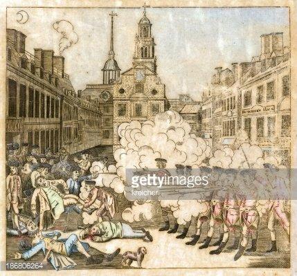 boston Massacre, 1770' premium clipart.