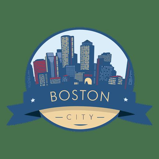 Boston City skyline badge.