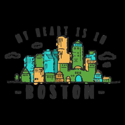 Boston skyline sticker.