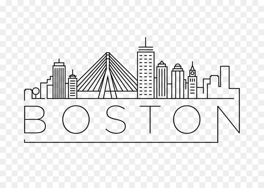 Boston Line Art png download.