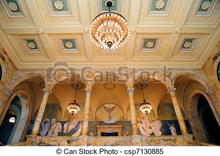 Stock Images of Boston public library.