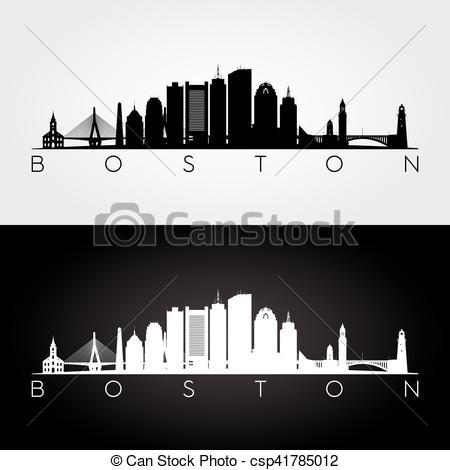 Boston skyline silhouette.